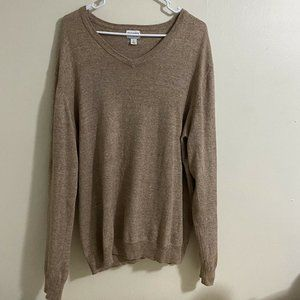 Old Navy Brown V-Neck Pullover Sweater